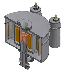 Cross-section drawing of Series Connected Hybrid concept magnet