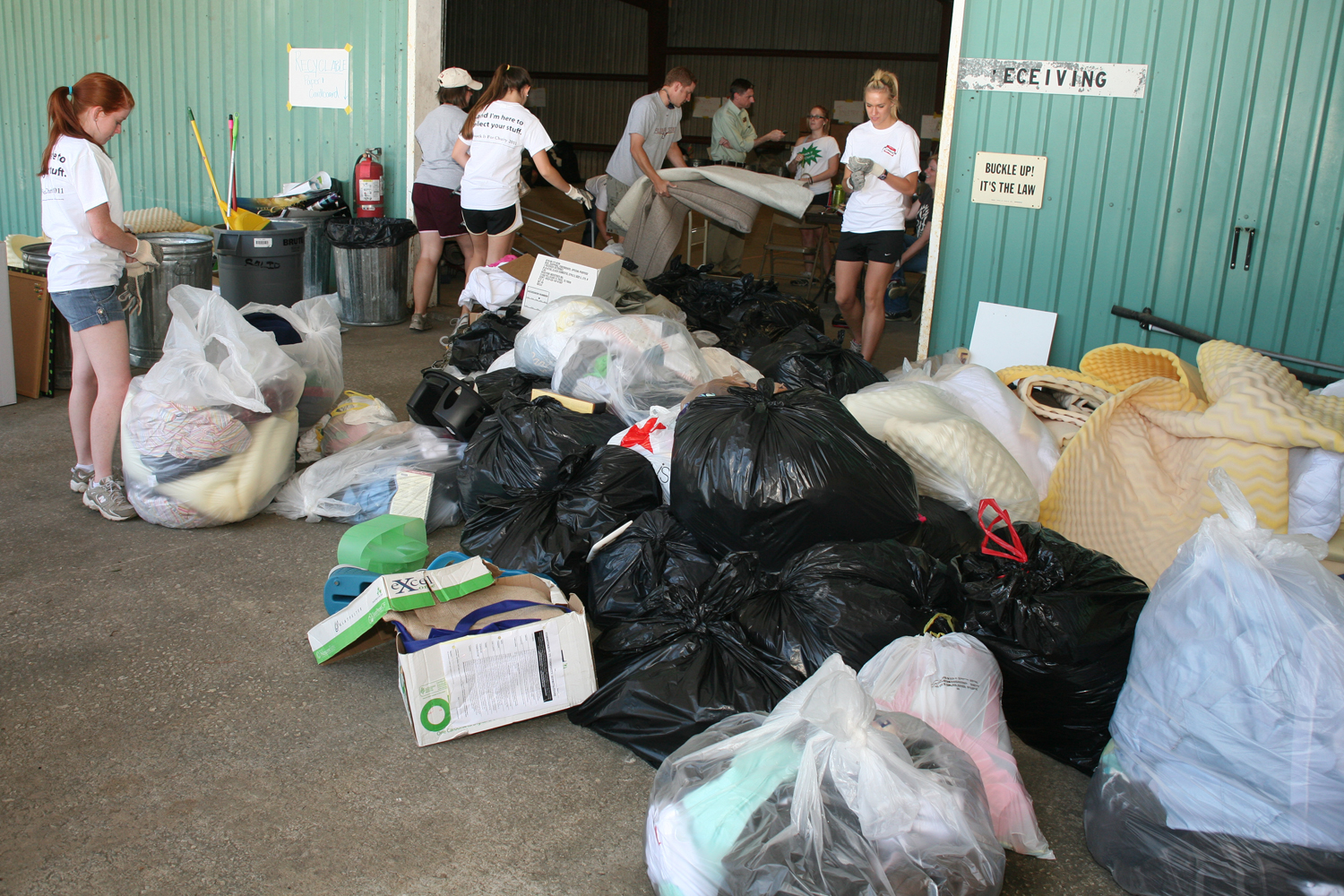 Chuck it for Charity recycling drive.
