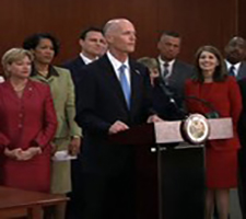 Gov. Rick Scott discusses the Career and Professional Education Act before signing it into law April 22 in the Cabinet Room of the Florida Capitol.