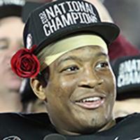 Quarterback Jameis Winston. Photo: Bill Pearce, FSU Sports Information.