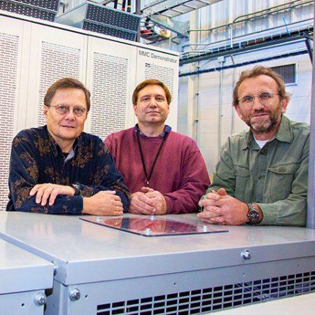 "CAPS researchers Ferenc Bogdan, John Hauer and Michael ""Mischa"" Steurer."