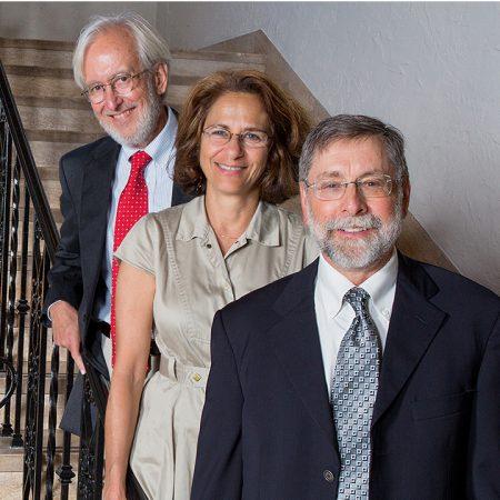 Religion professors: Aline Kalbian, John Kelsay, and David Levenson.