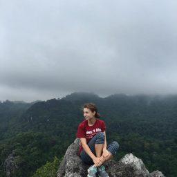 Emma Jo McAuliffe visits the Masungi Georeserve in Rizal, Philippines.