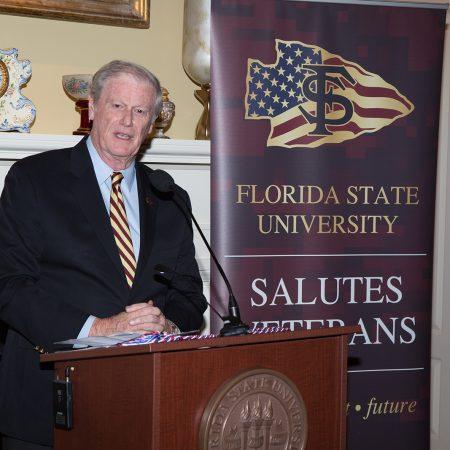 Veterans Graduation Reception and cording, John Thrasher