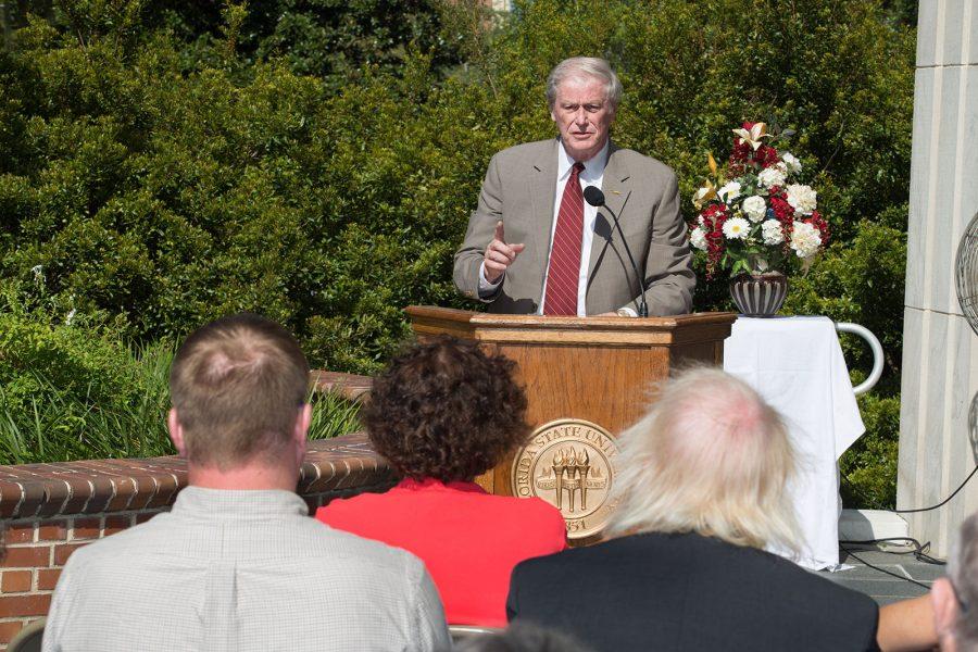 Robert Manning Strozier Statue Dedication ceremony. John Thrasher.