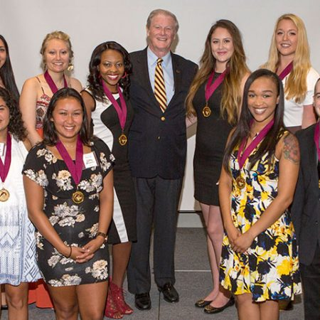 President John Thrasher and the 2016 Summer inductees.