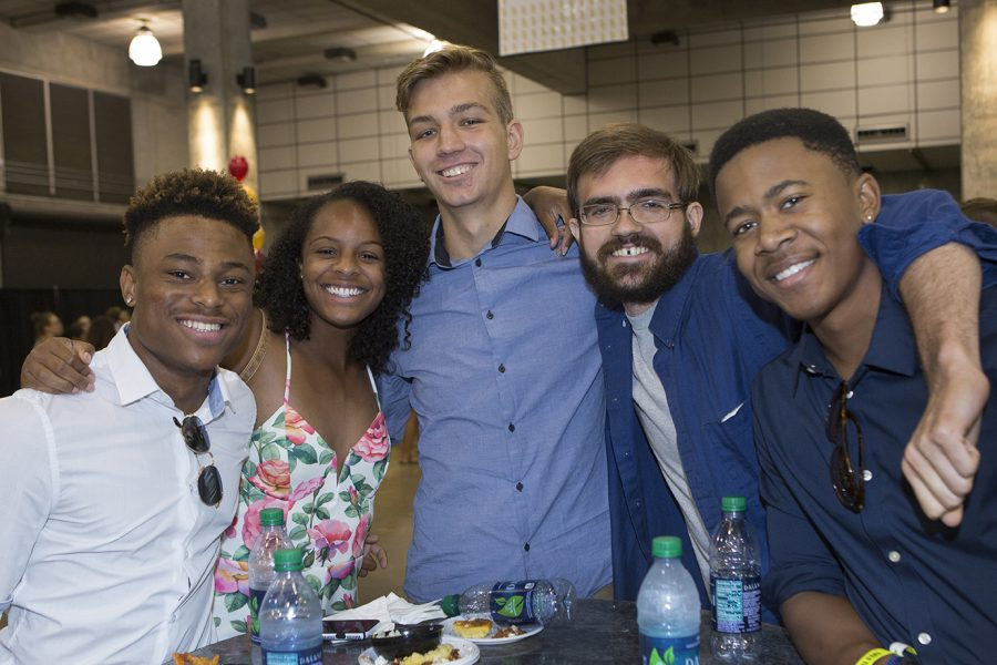Students at President's Welcome reception.