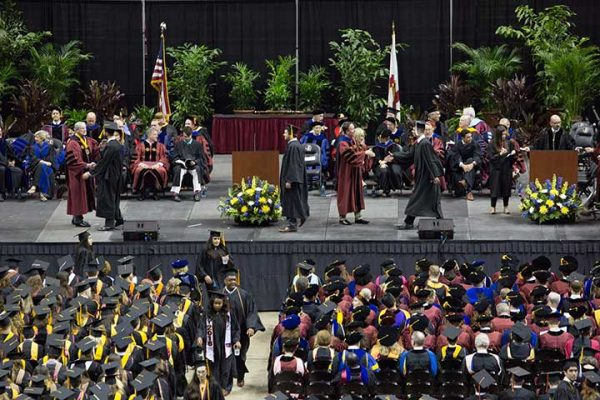 Of the 2,410 Florida State students graduating this summer, about 1,500 participated in Saturday's ceremony.