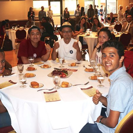 Florida State welcomed and celebrated students from around the world at the university's first-ever International Student Dinner held Monday, Aug. 29, at the Oglesby Union Ballroom.
