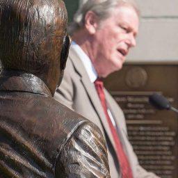 President John Thrasher speaks at the Strozier statue dedication ceremony Thursday, Aug. 25.