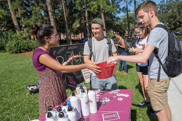Florida State University students launched the #PowerOfWe campaign Tuesday Sept. 20, on Landis Green.