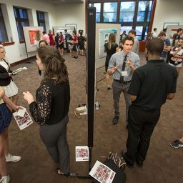 More than 50 undergraduate students presented their research at the President's Showcase.