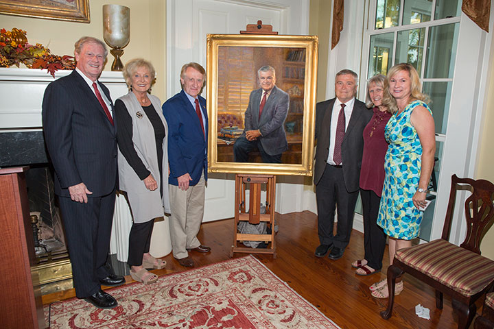 The unveiling of the presidential portrait of Eric Barron Tuesday, Oct. 4.
