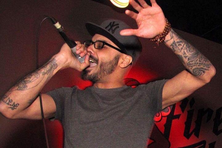 Local hip hop artist Buster Wolf