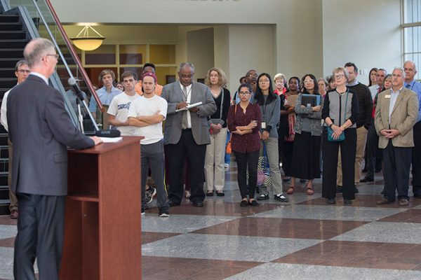 The FMRI opening reception Oct. 24, 2016, at the FSU College of Medicine.