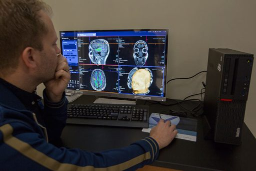 FMRI technology detects and maps blood flow changes in the brain allowing researchers to provide a reliable method to track brain activity and interaction.