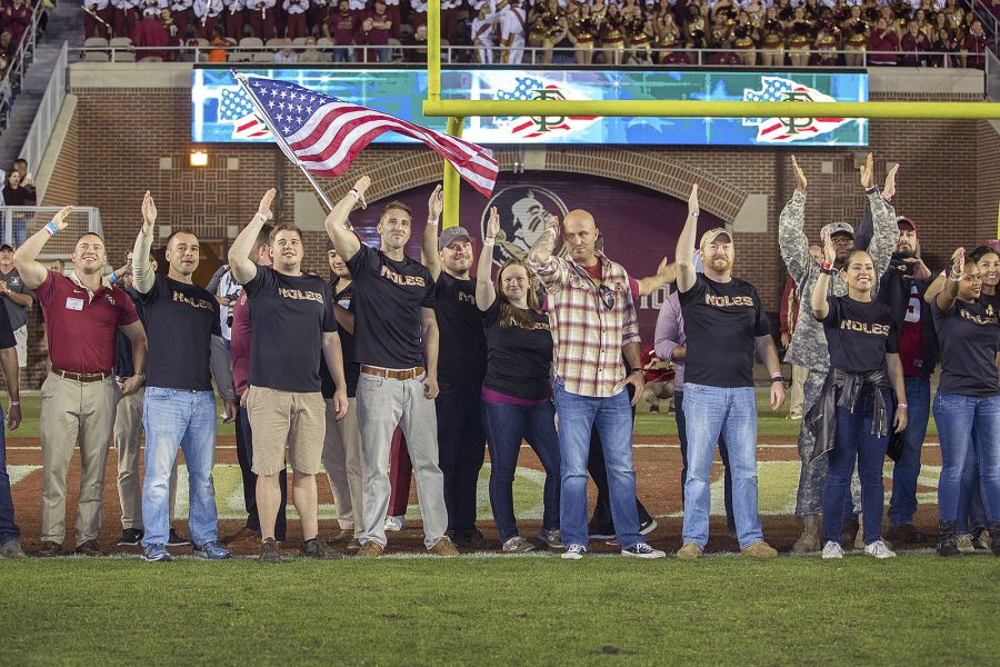 FSU v Boston College Veteran's Appreciation Day 2016 Vets
