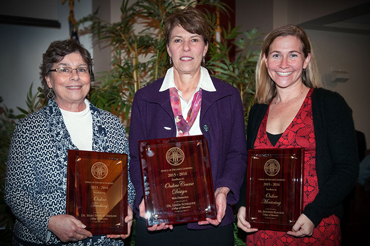 Award winners include Mary Frances Hanline, Linda Schrader and Jennifer Blalock from FSU's College of Education.