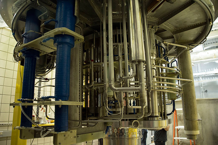 The National MagLab's new series connected hybrid (SCH) magnet successfully broke the record this week during a series of tests conducted by engineers and scientists.