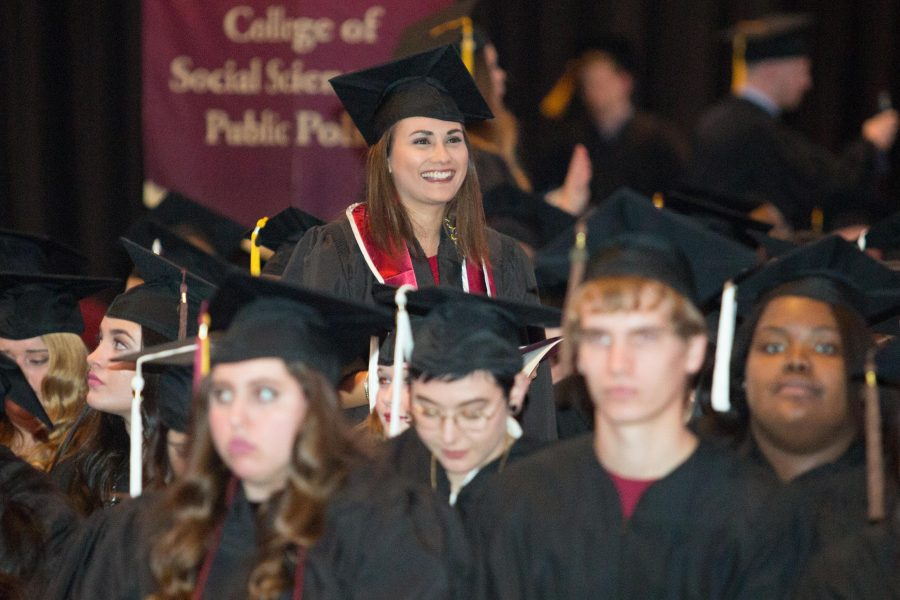 Graduates enjoy the 2016 Fall Commencement.