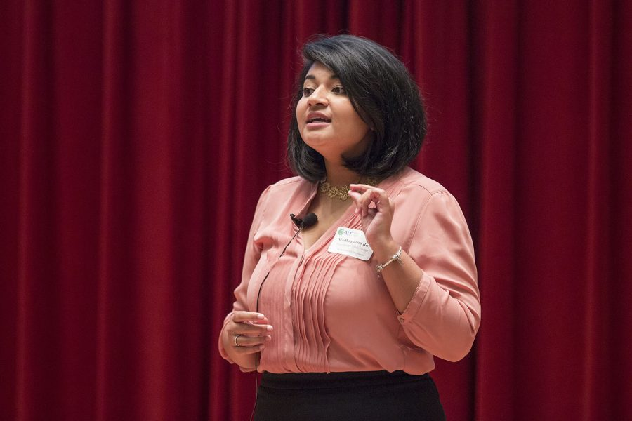 3 Minute Thesis Finalist Competition Madhuparna Roy gives her presentation entitled