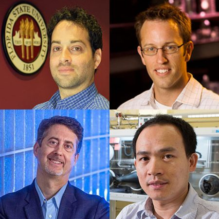 Researchers Yaacov Petscher, Scott Stagg, Joseph Schlenoff and Biwu Ma