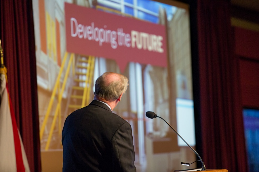 President Thrasher spoke about Florida State's goals for future during his annual State of the University address.