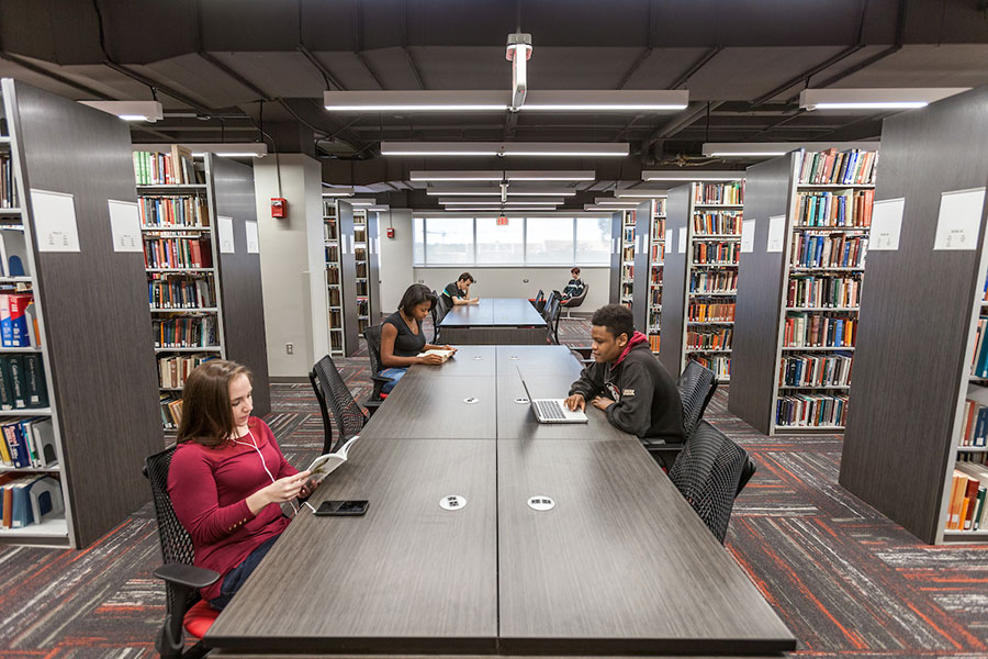 Innovative Classroom Desks ~ Newly renovated strozier library ready for finals week