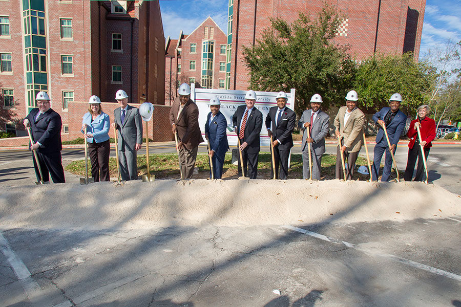 FSU administrators, alumni, students and Florida lawmakers broke ground on the new Black Student Union building Friday, Jan. 27, 2017. (Bill Lax/FSU Photography Services)
