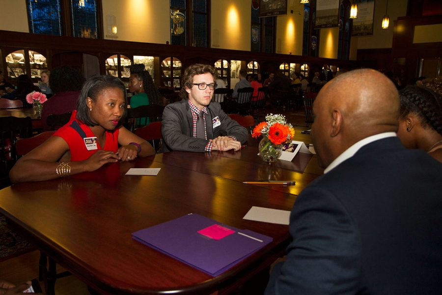 Students at the Dinner Dialogue event during the 29th Annual MLK Celebration Tuesday, Jan. 17. Photo credit: Lauren Alsina