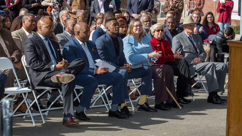 Hundreds gathered for the historic BSU groundbreaking.