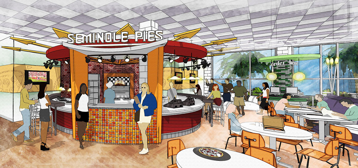 A current favorite of the campus community, Seminole Pies will remain in the Oglesby Union Food Court.