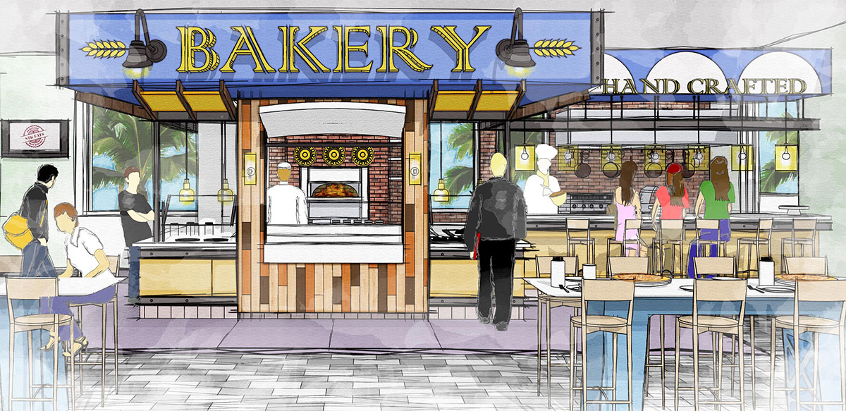 The new STK Seminole Test Kitchen will include a bakery offering freshly made pastries and desserts.