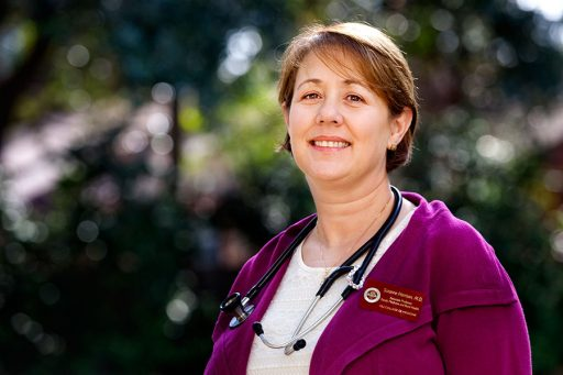 Dr. Suzanne Harrison, professor and education director in the College of Medicine's Department of Family Medicine and Rural Health.