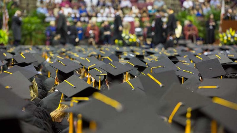 The 2017 spring commencement ceremonies will be held Friday, May 5 at 7:30 p.m.; and Saturday, May 6 at 9 a.m. and 2 p.m.