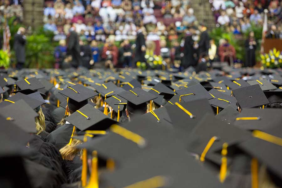 An image of a Florida State University graduation
