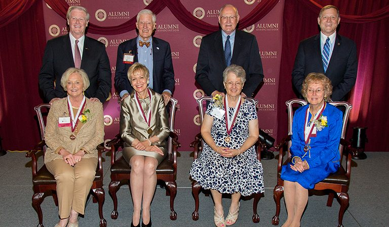 The Circle of Gold honored the FSU First Ladies at a dinner April 12, 2017. Mrs. Jean Thrasher, Patsy Palmer, Marilyn Kay Lick and Shirley Ann Slade Marshall.