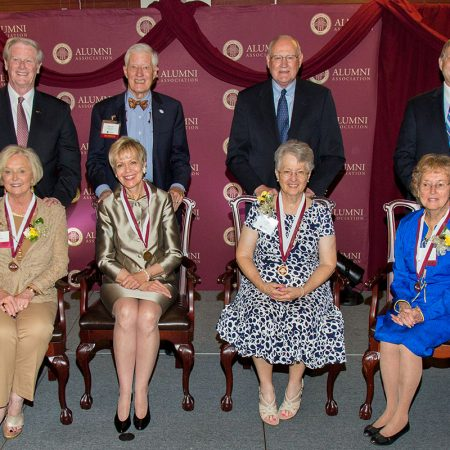 The Circle of Gold honored the FSU First Ladies at a dinner April 12, 2017. Four of seven FSU First Ladies attended the event: Mrs. Jean Thrasher, Patsy Palmer, Marilyn Kay Lick and Shirley Ann Slade Marshall.