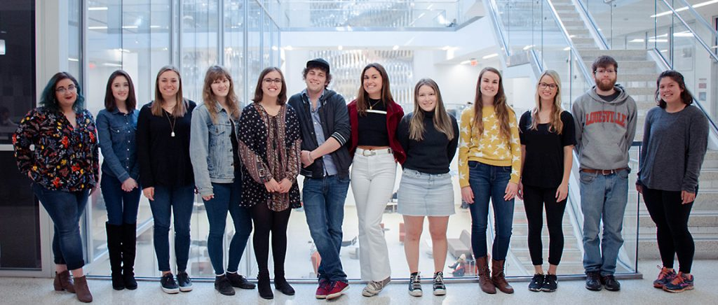 Each semester, a select group of art history undergraduate students in the Museum Object course have the unique creative opportunity to mount their own art exhibition.