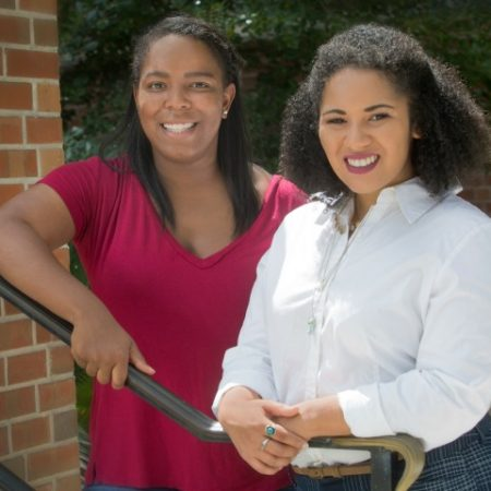 (Left to Right) Sharlie Goodson and Raven Jordan, FSU grads working for Teach for America.