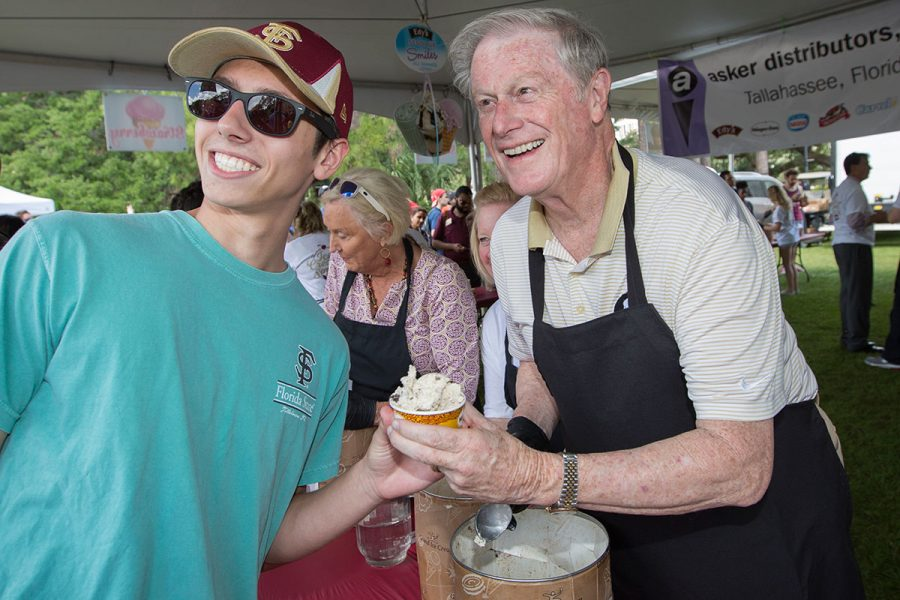 Florida State University President's Ice Cream Social on Landis Green, April 19, 2017.