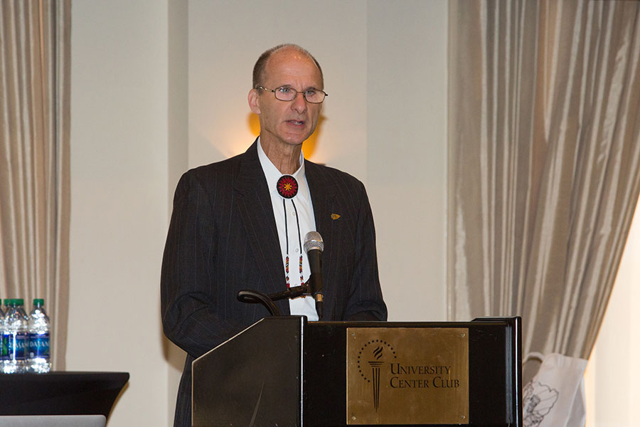 FSU Vice President for Research Gary Ostrander speaks at the summit.