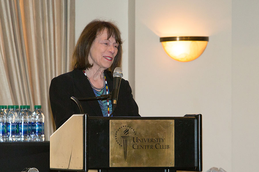Patricia Grady, director of the National Institute of Nursing Research at NIH, speaks at the summit.