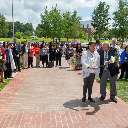 Chief Jim Henson of the United Keetoowah Band of Cherokee Indians — gave a traditional Native American blessing during a dedication of the future site of the INHRE located on FSU's southwest campus.