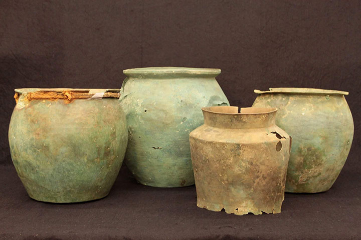 "Items that will be showcased in the ""Wells of Wonders: New Discoveries at Cetamura del Chianti"" exhibit at the Florence National Archaeological Museum."