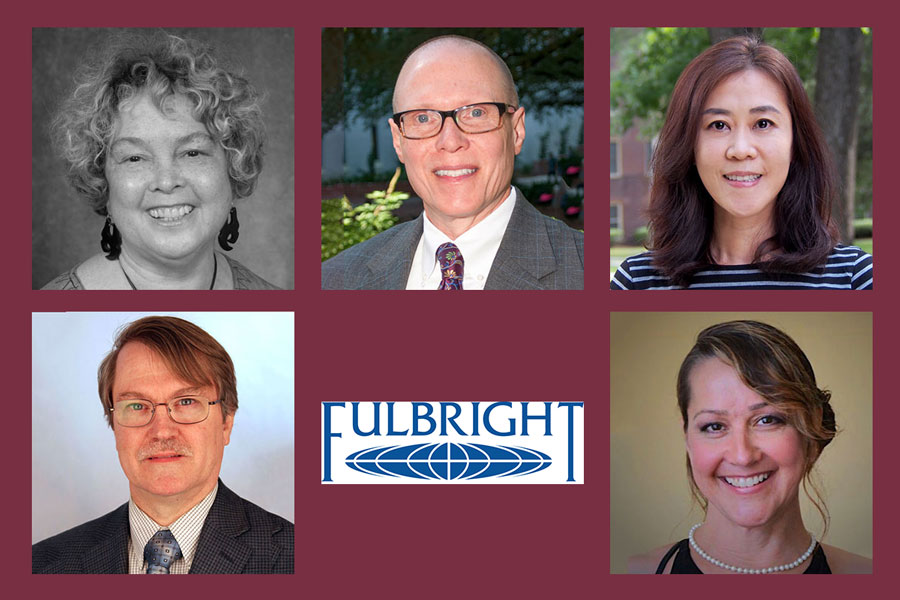 Five Florida State University faculty members have earned Fulbright U.S. Scholar Program grants.
