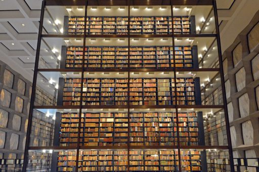 The Beinecke Rare Book and Manuscript Library contains one of the largest collections of books and manuscripts in the world. The collections are open to researchers working to create new scholarship.