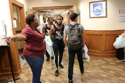 CARE students move into Dorman Hall (Photo by Susan Hansen)