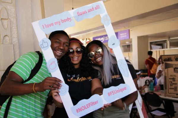 Students attending annual Love Your Body Day event. Love Your Body Day is an initiative that focuses on body positivity