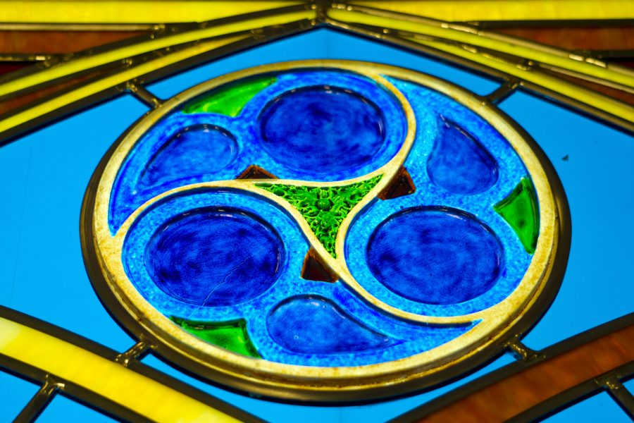 Former FSU President Sandy D'Alemberte, also a former dean of the College of Law and current professor, is being honored with a handmade stained glass window in Dodd Hall's Heritage Museum. The window is expected to be installed in fall, 2017.